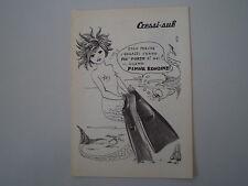 advertising Pubblicità 1974 CRESSISUB CRESSI SUB