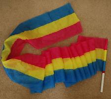 Tri-Color Extra Wide Dance Steamer Worship Flag Flying Ribbon Praise Dance