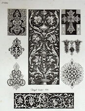 ornement Entrelacs arabesque architecture gravure Riester Clerget