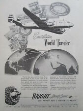 12/1945 PUB CURTISS-WRIGHT WRIGHT AIRCRAFT ENGINES CYCLONE CONSTELLATION AD