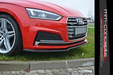 CUP Spoilerlippe SCHWARZ für Audi A5 S5 F5 S Line Front Schwert Ansatz Vers 1