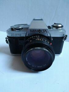 Minolta  X-370 Camera W/ 50mm Lens TESTED & WORKING *PLEASE READ*