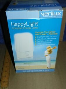 Verilux Happy Light VT01-SB SAD Full Spectrum Lamp Therapy Compact-NEW-LAST ONE