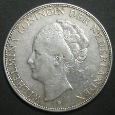 PAYS-BAS  - 2 1/2 GULDEN 1932 - REINE WILHELMINA - Argent