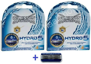 "Pack of 8 + Extra Free Blade - Wilkinson Sword Hydro 5 Mens Razor - ""9 Blades"""