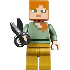 Lego Minecraft Alex w/ Pearl Gold Legs & Sheep Shears from set 21134 NEW