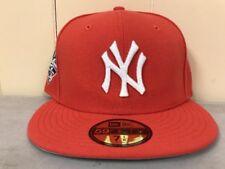 Brand New New Era 7 5/8 New York Yankees Fitted Hat Orange/White