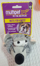 "Multipet Nuts for Knots Rope Head Animals 4"" Mouse # 29077"