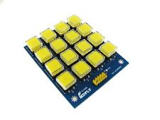 4x4 Keypad with Yellow Cap 12x12mm pushbutton