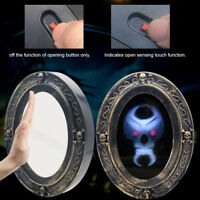 Halloween Induction Touch Haunted Mirror Trick w/ Creepy Sound-Luminous Skull