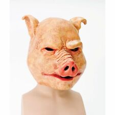 HALLOWEEN HORROR SCARY LATEX PIG MASK Mens Fancy Dress Costume Accessory
