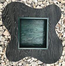 LARGE Vtg 50s Cerused Wood Amoeba Shadow Box Retro Mid Century Modern Atomic Era