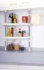 Kitchen 2-Tier Rack Shelving Shelf Cabinets Bedroom Bathroom Storage Rack Shelf