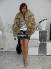 Pelzmantel Fuchs Kojote Pelzjacke Koyote Fur Coat Fourrure Pelliccia Volpe Fox M