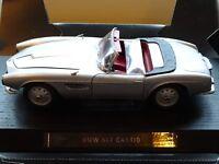 1/18 BMW 507 Cabrio 3.2 Litre V8 Grand Tourer Silver with Red Hide Revell Plinth