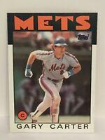 1986 Topps Gary Carter baseball card New York Mets NrMt-Mint #170 MLB HOF C