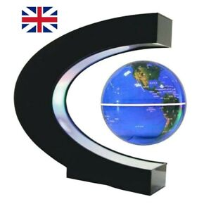 Magnetic Floating Globe Levitation LED World Map C shape  gadgets Gift for men .