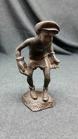 Antique statue of bronze,  boy goalkeeper   sport of the USSR