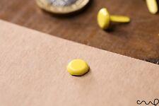100 x Pasadores de Split Sujetador de papel amarillo vinculante Oficina Artesanía 13 mm largo haciendo
