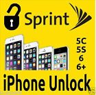 Sprint iPhone Unlock 5S/5C/6/6P/6S/6SP 35XXX Clean Only Express