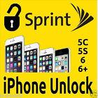 Sprint iPhone Unlock 5S/5C/6/6P/6S/6SP 35XXX Clean Only Express