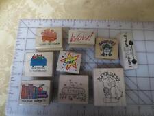 9 elementary teacher school wm rubber stamps -Encoragement Book label Desk of