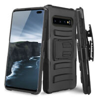 For Samsung Galaxy S10/Plus/S10e Case Rugged Armor Stand Phone Belt Clip Holster