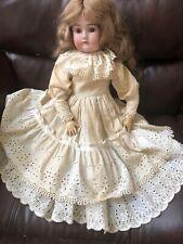 "Pretty 22"" Antique German Bisque Doll, Cuno Otto Dressel,1912-1914 Full Dress"