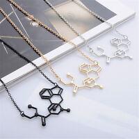 Geometric Structure Formula Necklace Unisex Fashion Pendant Necklace Friend Gift