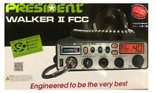 President WALKER II 40 Channel CB Radio with ASC, Scan, Roger, Weather Brand NEW