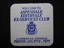ASPENDALE EDITHVALE EX-SERVICES CLUB 111 KINROSS AVE 0397727977 COASTER
