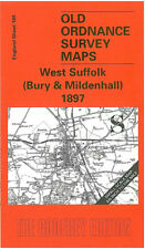 Old Ordnance Survey Map West Suffolk, Bury St Edmunds, Mildenhall 1897