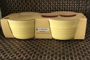 Set of 2 Le Creuset  Ramekins Stoneware 0.2L Elysees Yellow ( BNIB)