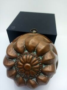 Antique copper jelly mould
