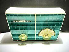 "Philco Deco ""Atomic"" obscure 5 tube radio All original 50s working twin speaker!"
