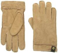 Dockers Men Casual Suede Genuine Leather Sherpa Lined Gloves Tan