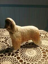 "Large 7 & 1/2"" Tall Afghan Dog Figurine 8.5"" Long Russia"