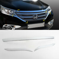 Chrome Bonnet Guard Molding Trim Garnish 3p 1Set For 2012 2016 Honda CR-V