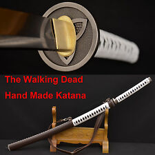 The Walking Dead Sword-Michonne's Katana Zombie Killer DAMASCUSFoldedSteelBlade