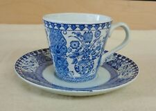 Vintage DELFT KING HOLLAND Art Pottery CUP and SAUCER (TH1280)