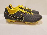 Nike Tiempo Legend 7 Pro FG Soccer Cleats Grey Yellow AH7241 070 Men's Size 8