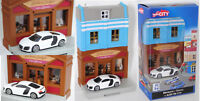 Herpa City / Unifortune RMZ City 800013 Audi R8 V10 5.2 FSI, Gebäudesatz mit Bäc