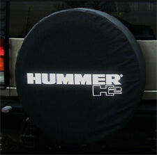 """18 Inch Wheel Spare Tire Cover For HUMMER H2 Silver Logo Heavy HD Vinyl 34"""" 35"""""""