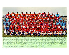 1968 DENVER BRONCOS NFL FOOTBALL 8X10 COLOR TEAM PHOTO FLOYD LITTLE BRISCOE