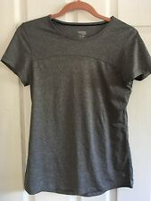 DANSKIN Now Semi-Fitted Gray Athletic Yoga Exercise Top Shirt womens SMALL 4-6