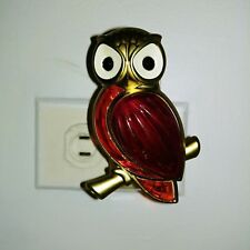 Bath & Body Works Wallflower Gold Red Orange Jewel Owl Fragrance Diffuser