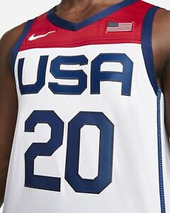New Nike Team USA Basketball Authentic Olympic Jersey Men's M/44 $200 NWT Sewn
