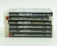 Call Of Duty Modern Warfare /Black Ops 1 2 /Ghosts PlayStation 3 PS3 Lot Bundle