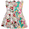 NEW Flower Girl Kid Summer Party Floral Sleeveless A-Line Short Mini Dress 6~12Y