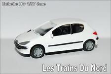 Peugeot 206 3 portes Couleur Blanc Banquise éch HO 1/87 éme BREKINA SAI 2160